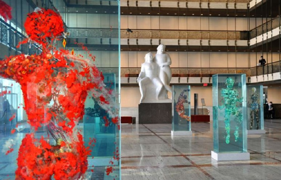 3D Collaged Figures Encased In Glass By Dustin Yellin 8