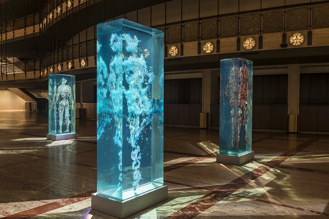 3D Collaged Figures Encased In Glass By Dustin Yellin 9