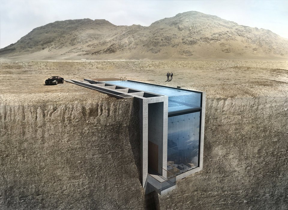 This House Was Built On A Cliff, You Won't Believe The Inside 1