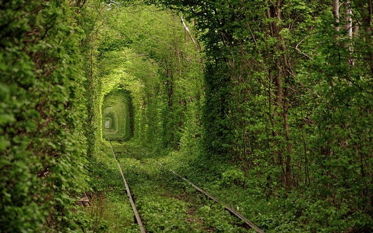 1) Tunnel of Love, Klevan, Ukraine.