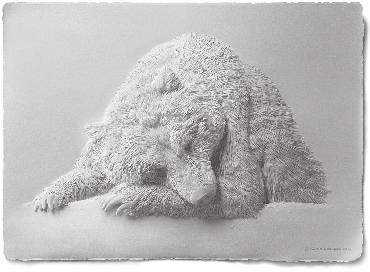 Super Realistic Paper Sculptures Of Animals By Calvin Nicholls 1