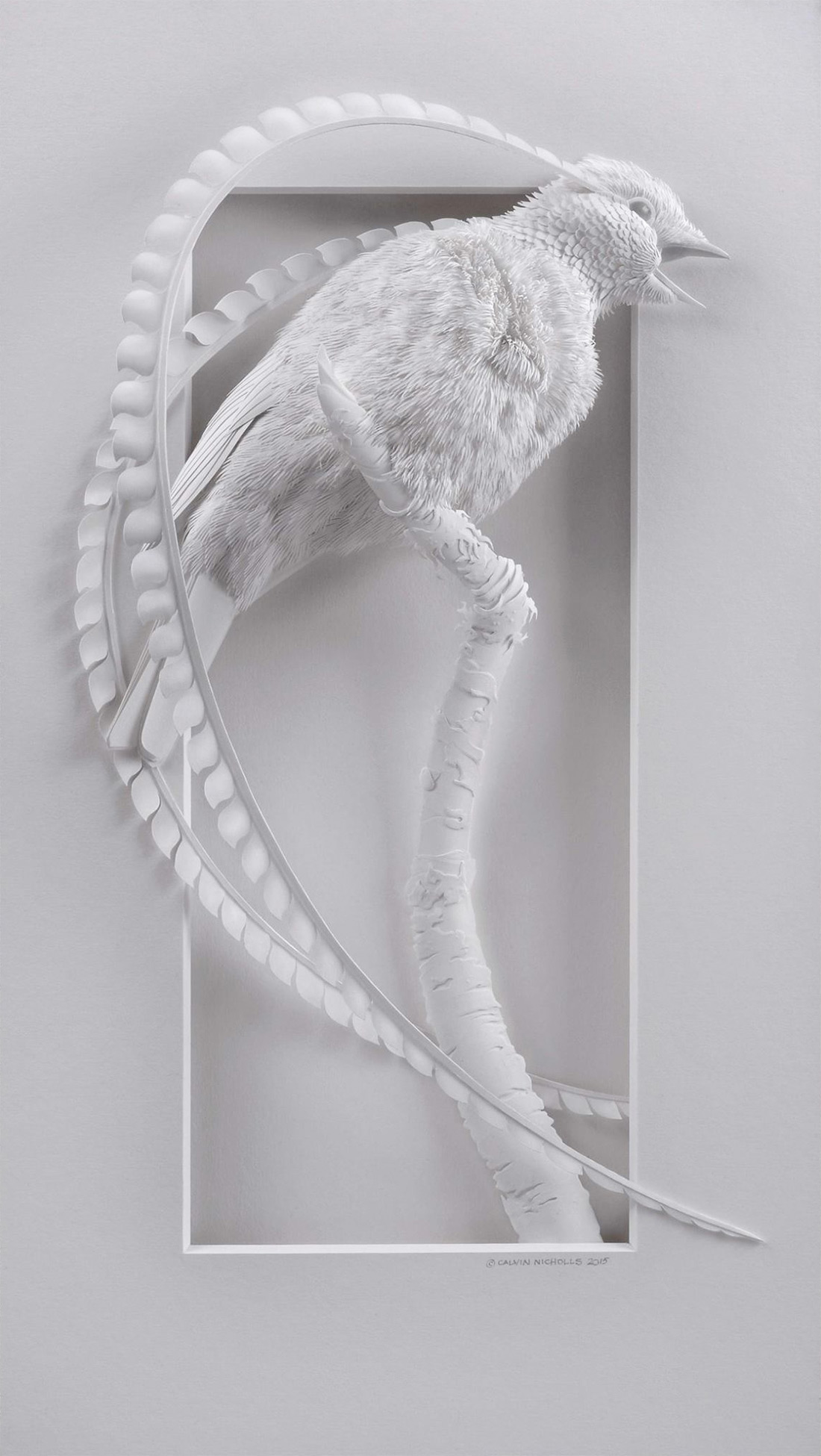 Super Realistic Paper Sculptures Of Animals By Calvin Nicholls 2