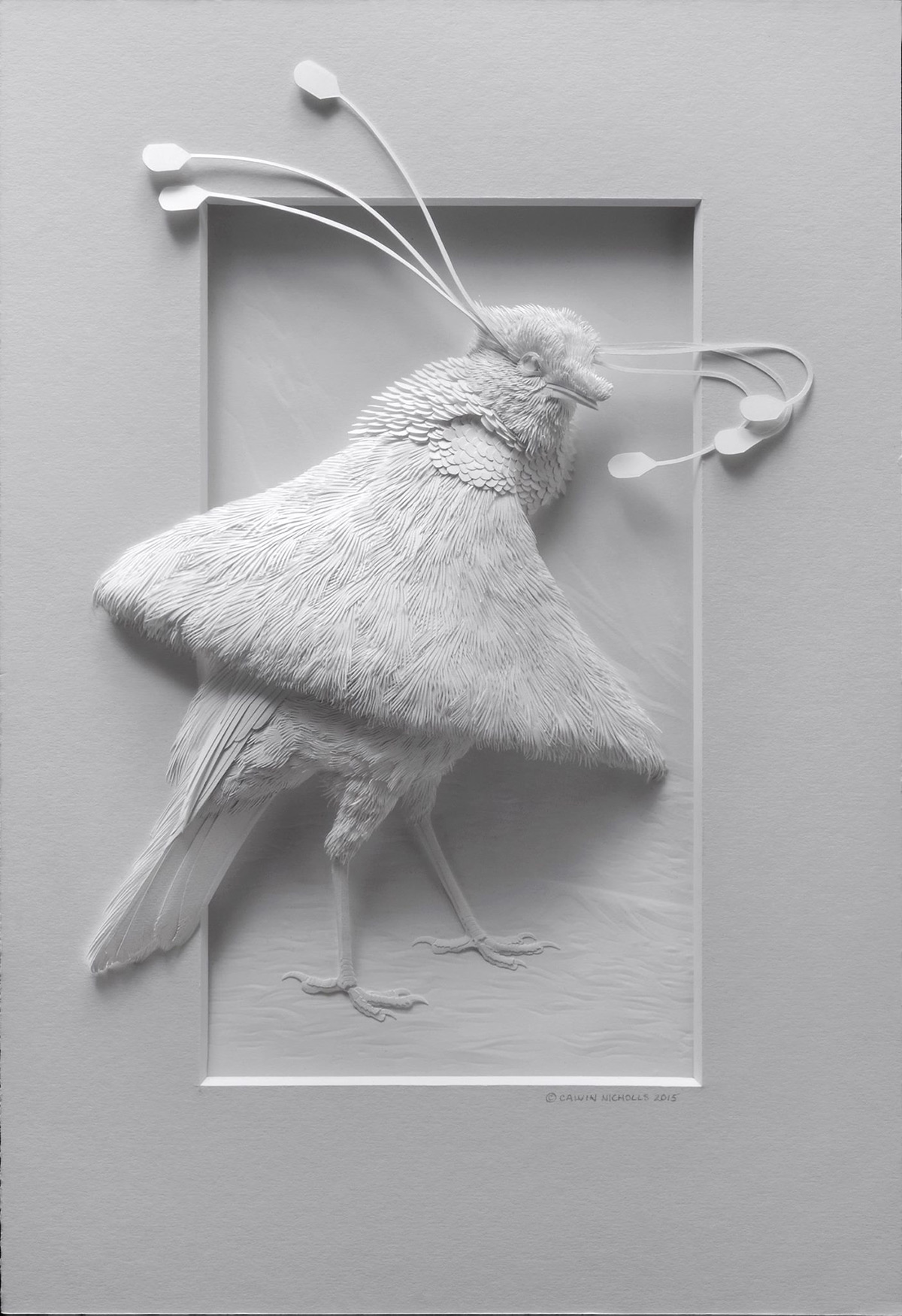 Super Realistic Paper Sculptures Of Animals By Calvin Nicholls 4