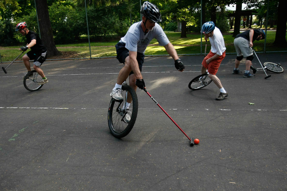 7.  Unicycle Polo