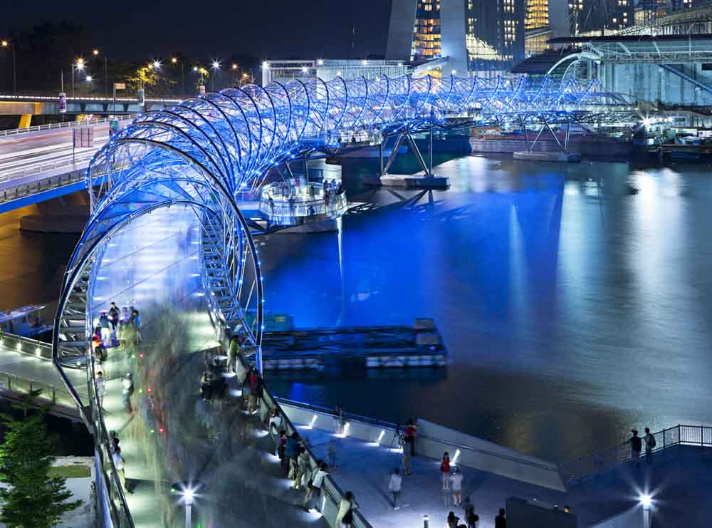1. Helix Bridge, Marina Bay area, Singapore 2
