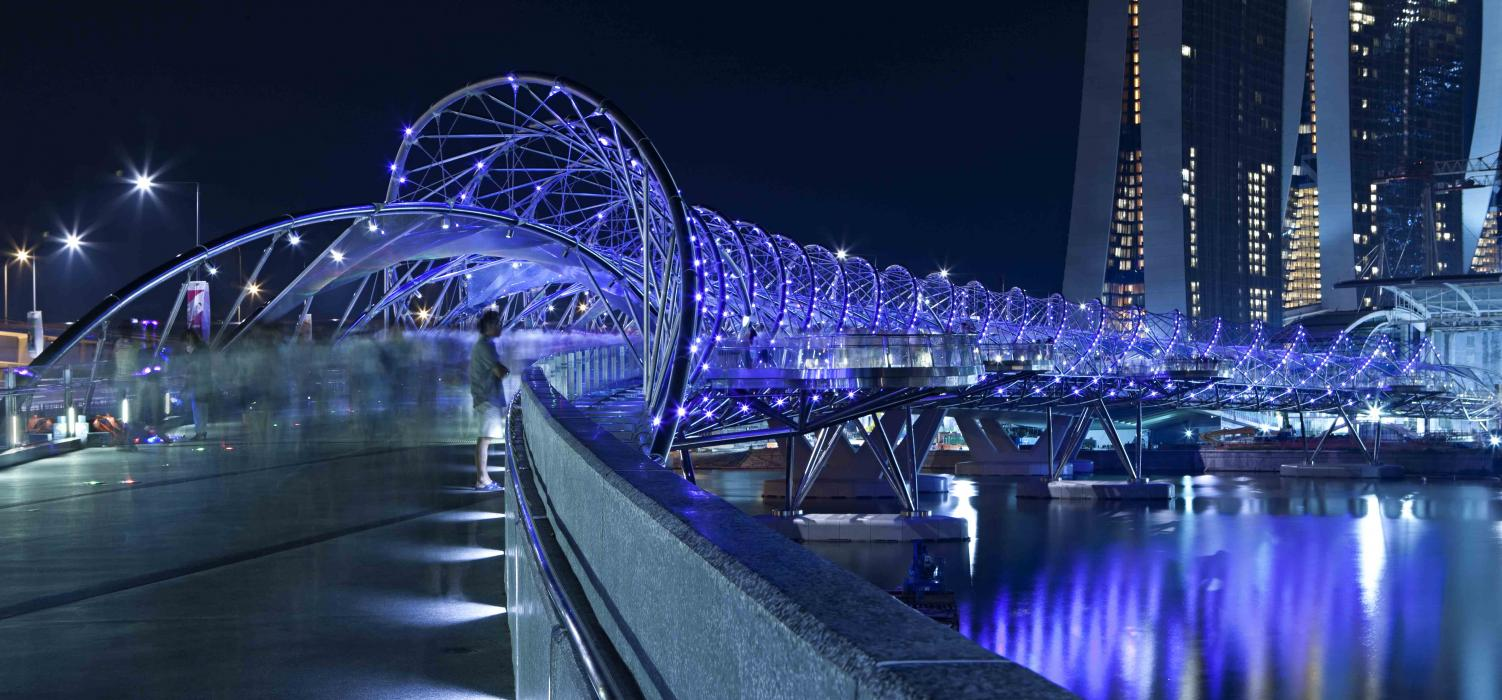 1. Helix Bridge, Marina Bay area, Singapore 3