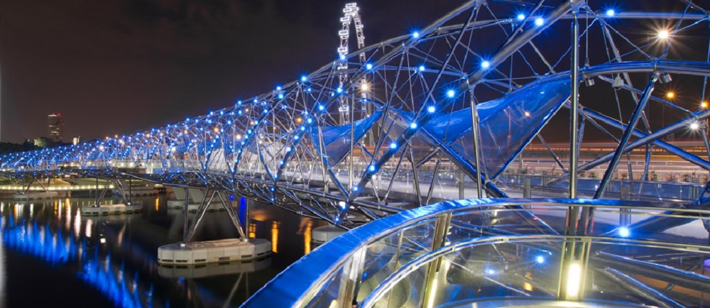 1. Helix Bridge, Marina Bay area, Singapore 4