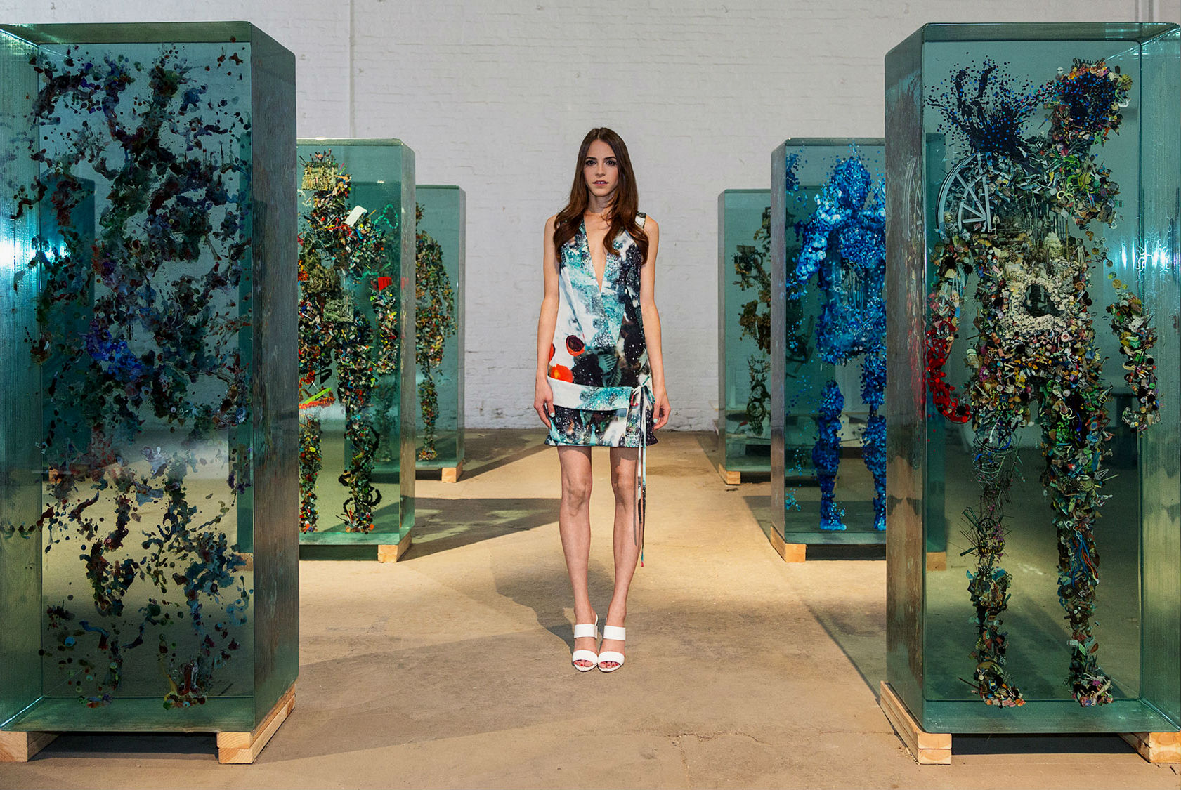 3D Collaged Figures Encased In Glass By Dustin Yellin 1