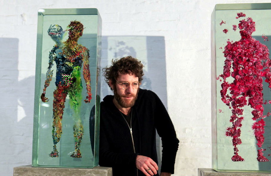3D Collaged Figures Encased In Glass By Dustin Yellin 4