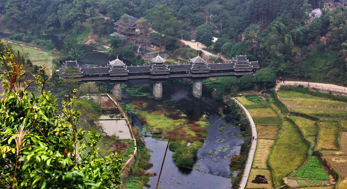 8. The Chengyang Wind And Rain Bridge, Sanjiang County, China 1