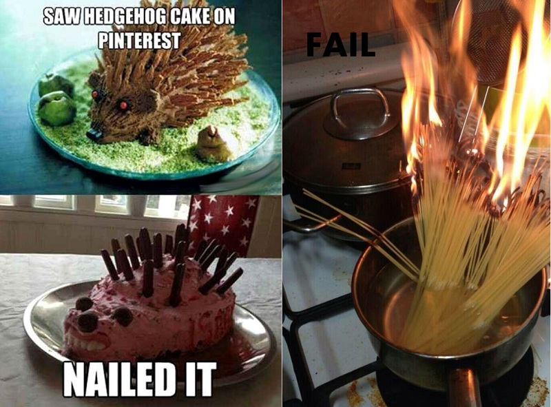Cooking Fails - Expectations VS Reality