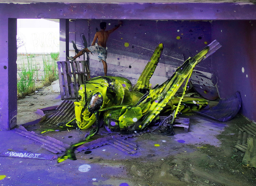 Junk Gets a Second Life as Gorgeous 3D Animal Street Art 1