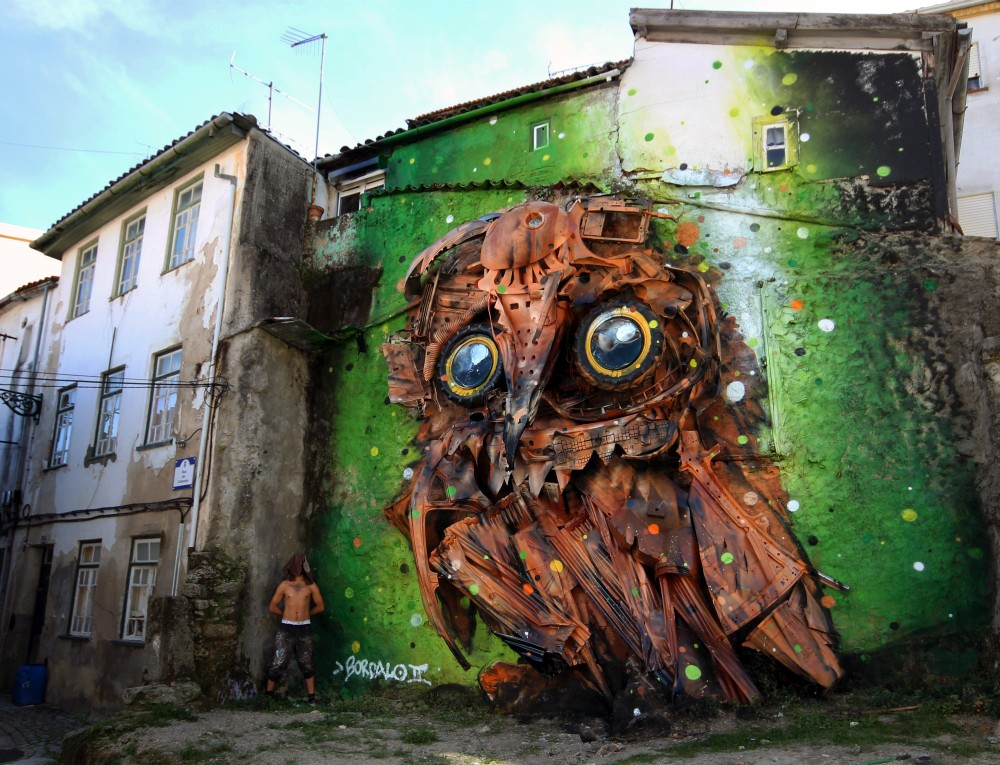 Junk Gets a Second Life as Gorgeous 3D Animal Street Art 10