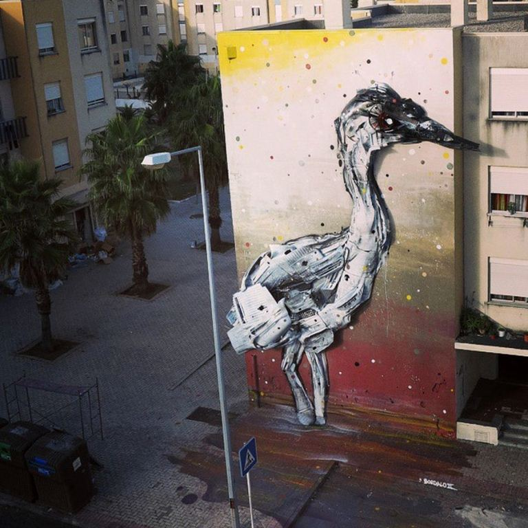 Junk Gets a Second Life as Gorgeous 3D Animal Street Art 18