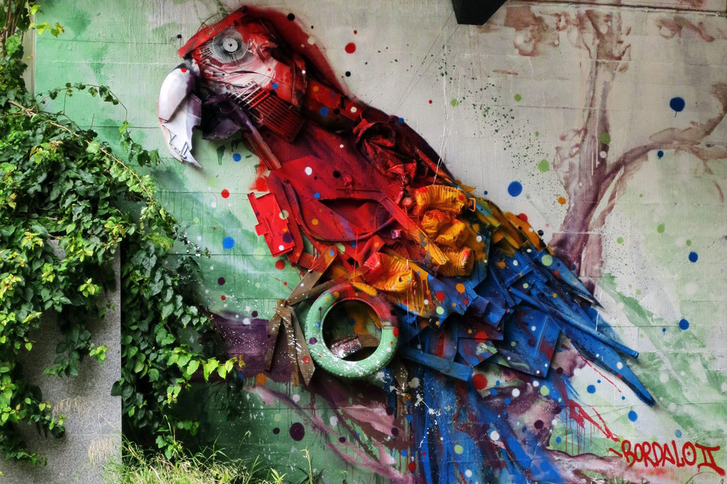 Junk Gets a Second Life as Gorgeous 3D Animal Street Art 19