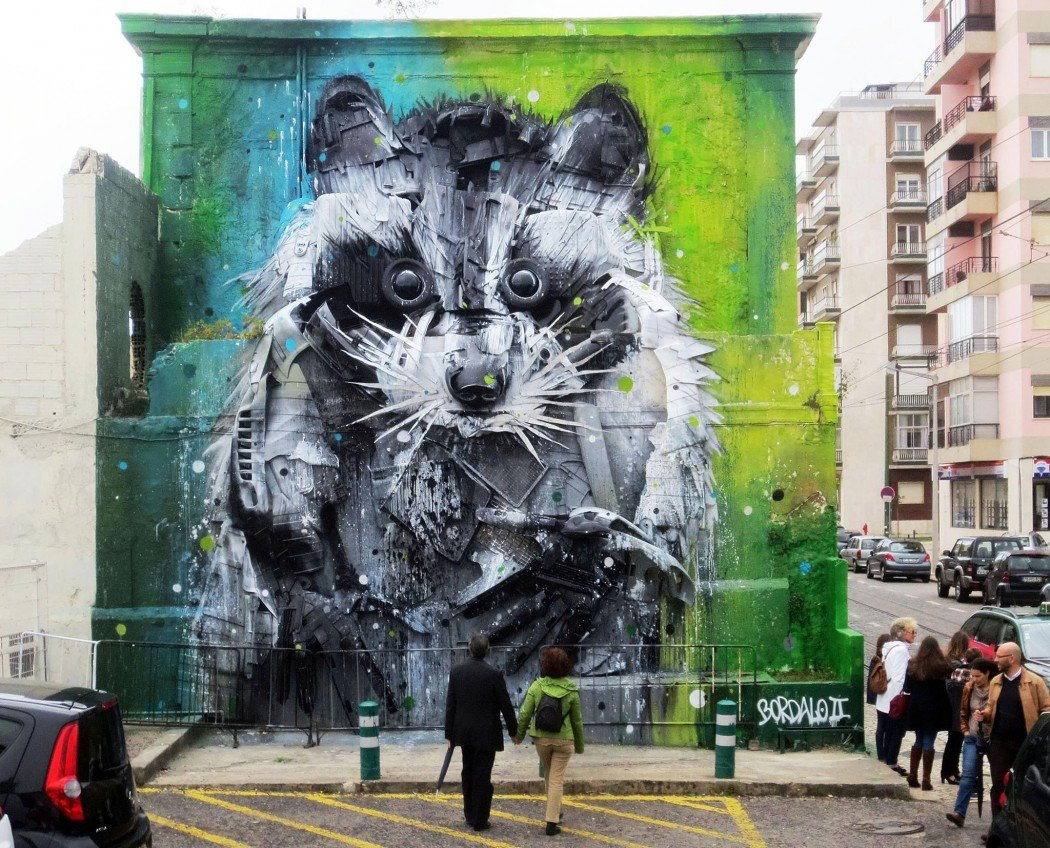 Junk Gets a Second Life as Gorgeous 3D Animal Street Art 21