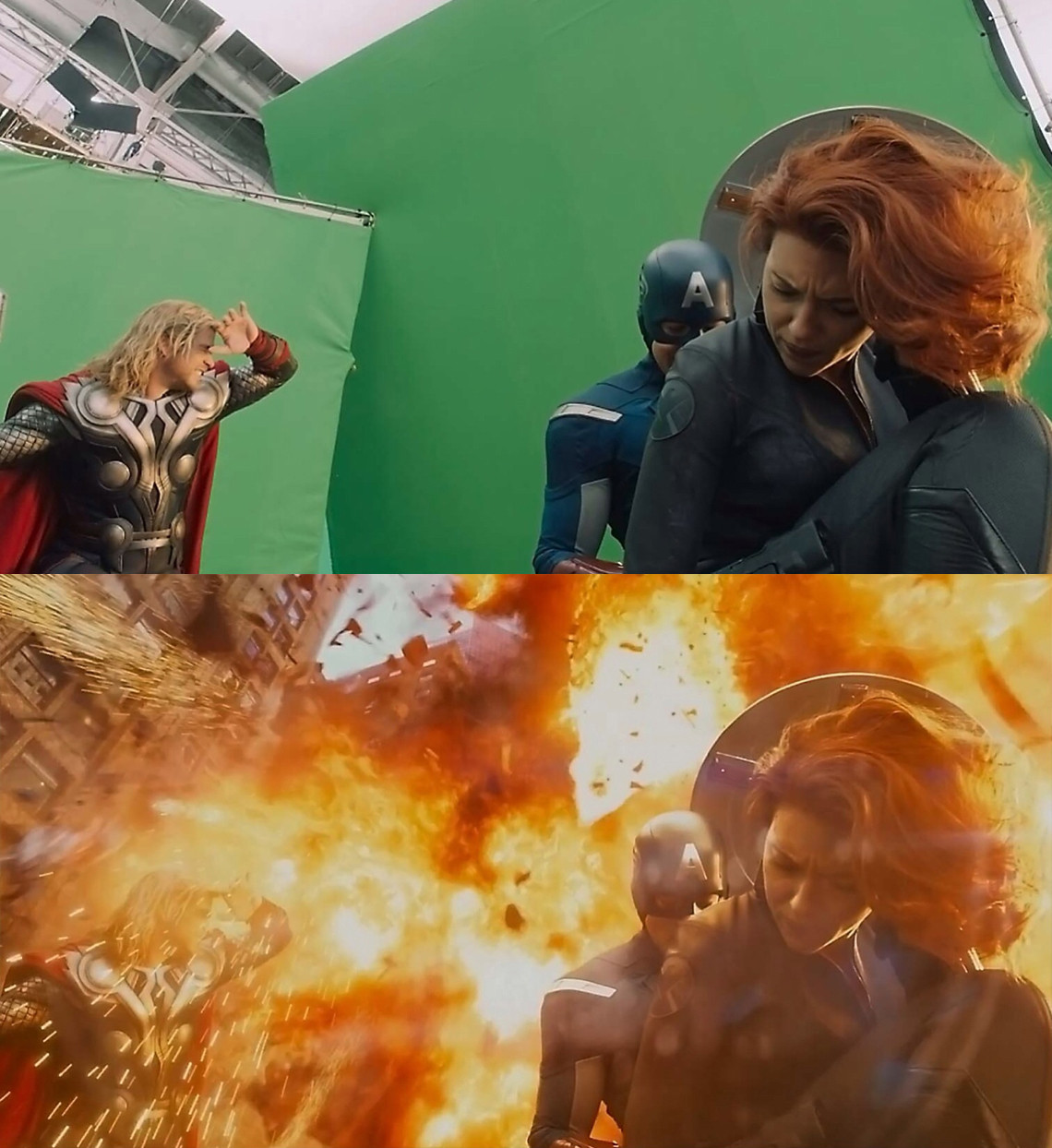 20 Before and After Comparisons of Movie Visual Effects 17
