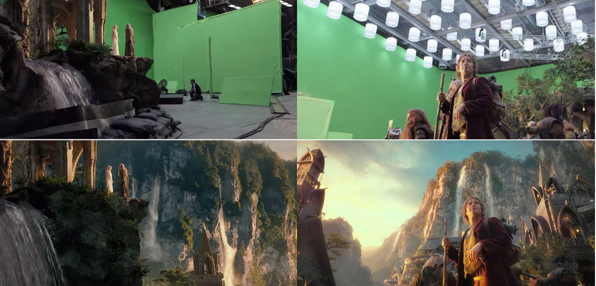 20 before and after comparisons of movie visual effects