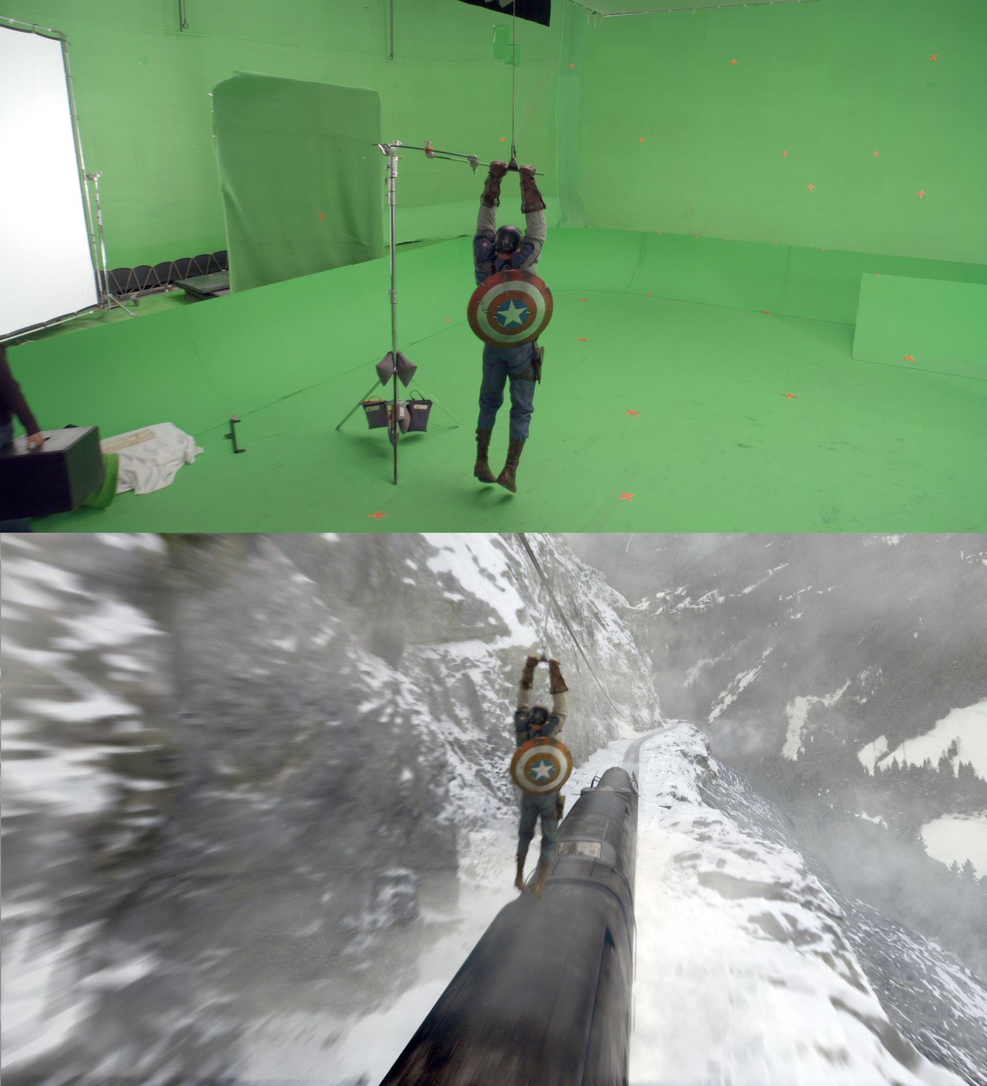 20 Before and After Comparisons of Movie Visual Effects 35