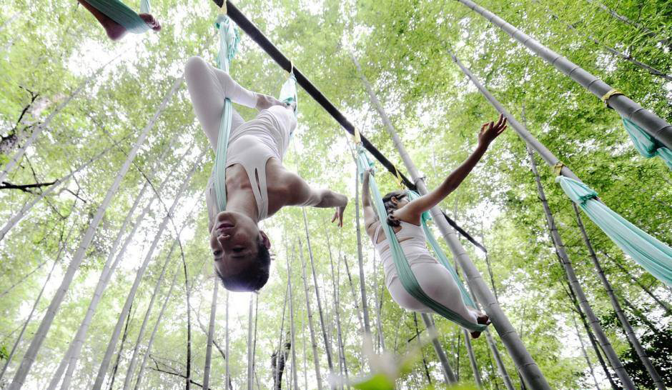 Anti-Gravity Yoga In Bamboo Forest (OMG) 2