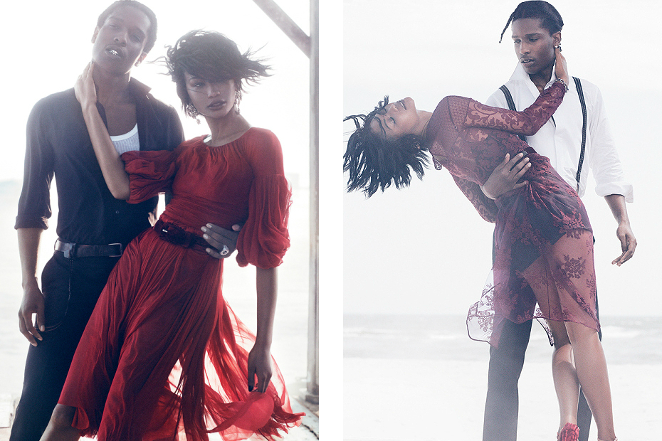 Asap Rocky X Chanel Iman For Vogue Magazine  1