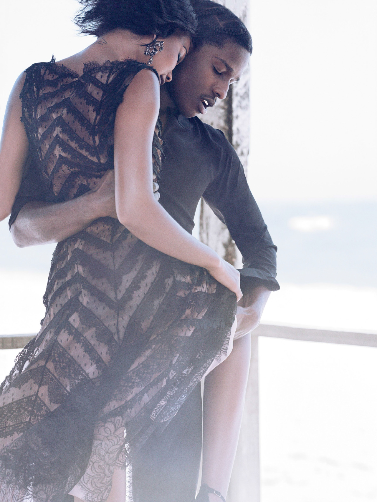 Asap Rocky X Chanel Iman For Vogue Magazine  2