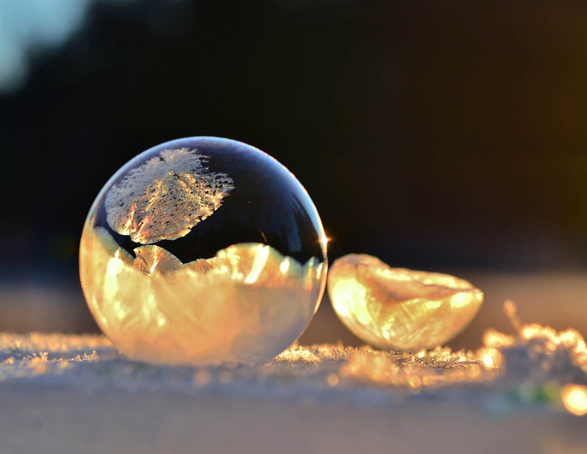 Mysterious Frozen Bubbles By Hope Carter 6