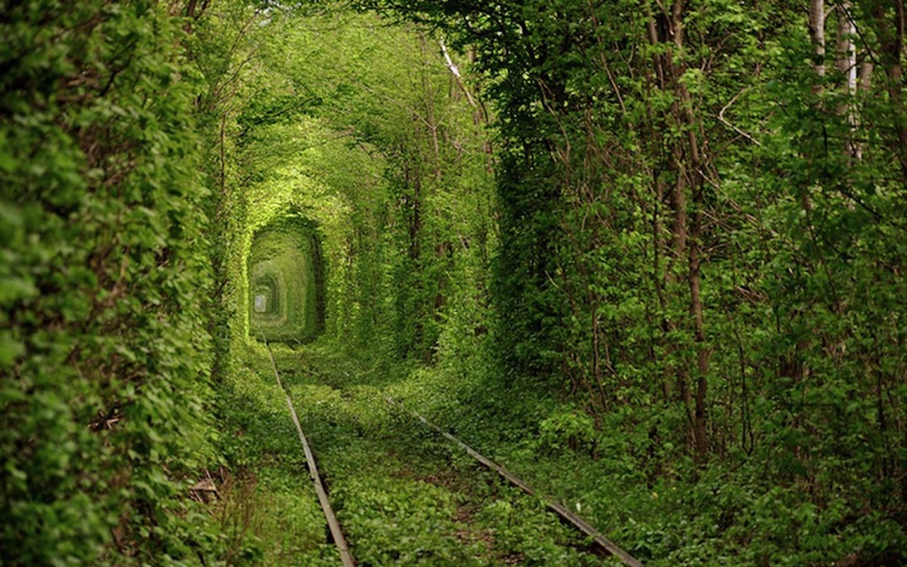 1) Tunnel of Love, Klevan, Ukraine.