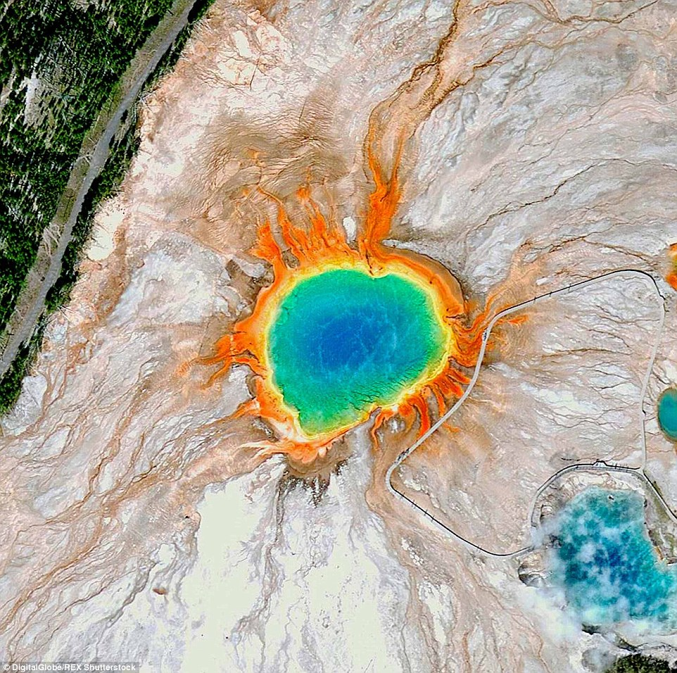 12. The Grand Prismatic Spring, Yellowstone National Park, US