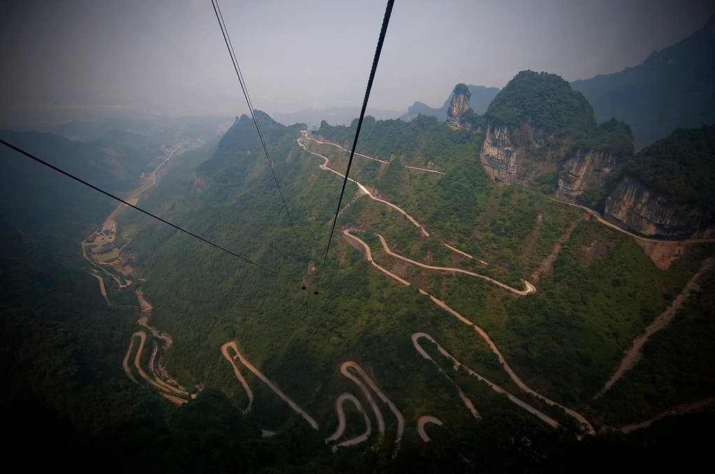 4) Tianmen Mountain Road, Hunan, China 1