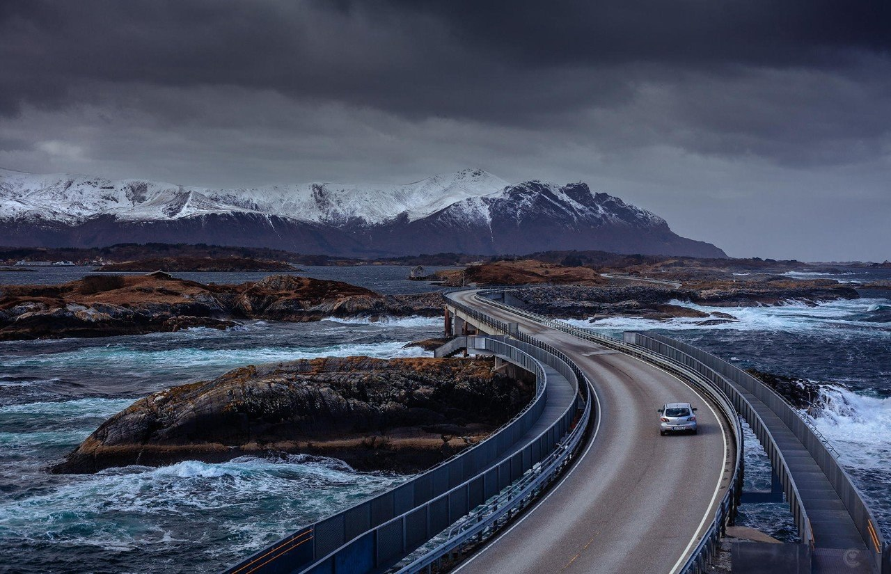 6) Atlantic Road through Norway 1