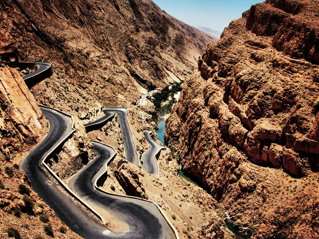 7) Dadès Gorge Road in the High Atlas Mountains, Morocco 1