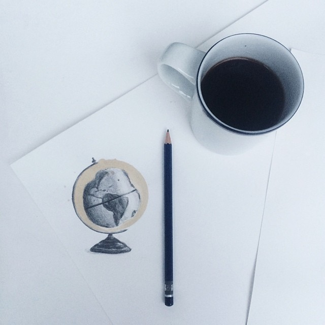 Amazing Coffee Stain Drawings by Carter Asmann 1