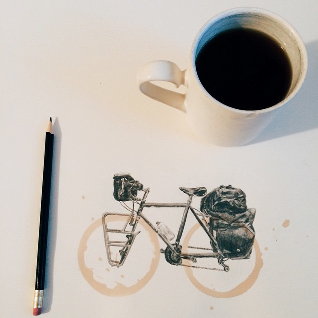 Amazing Coffee Stain Drawings by Carter Asmann 10