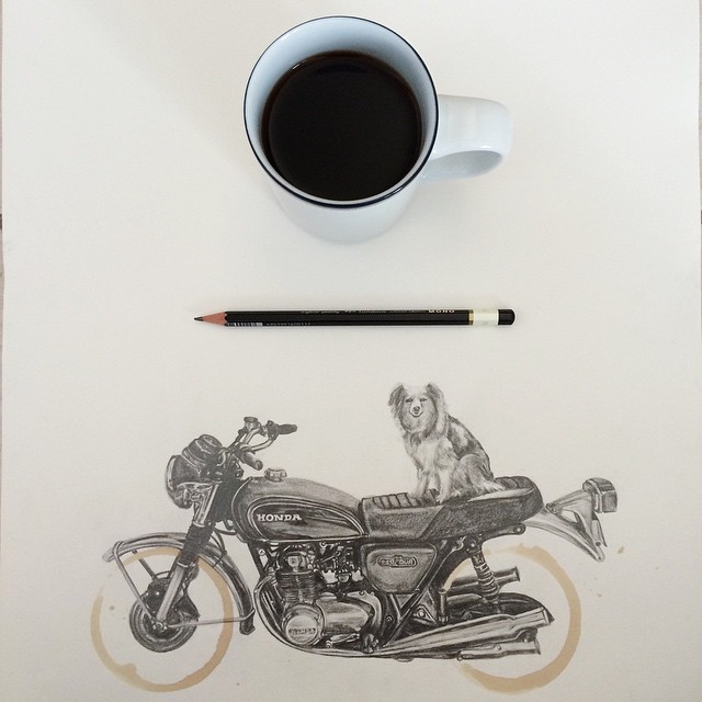 Amazing Coffee Stain Drawings by Carter Asmann 11