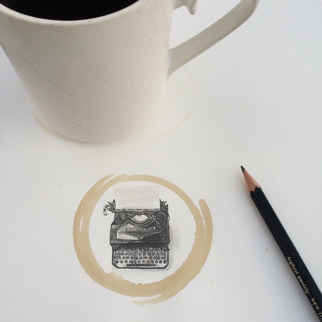Amazing Coffee Stain Drawings by Carter Asmann 13