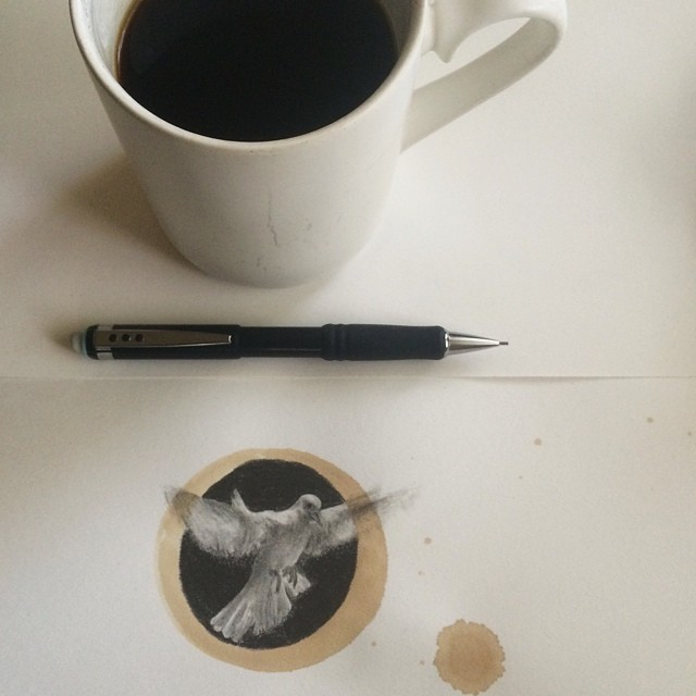 Amazing Coffee Stain Drawings by Carter Asmann 14
