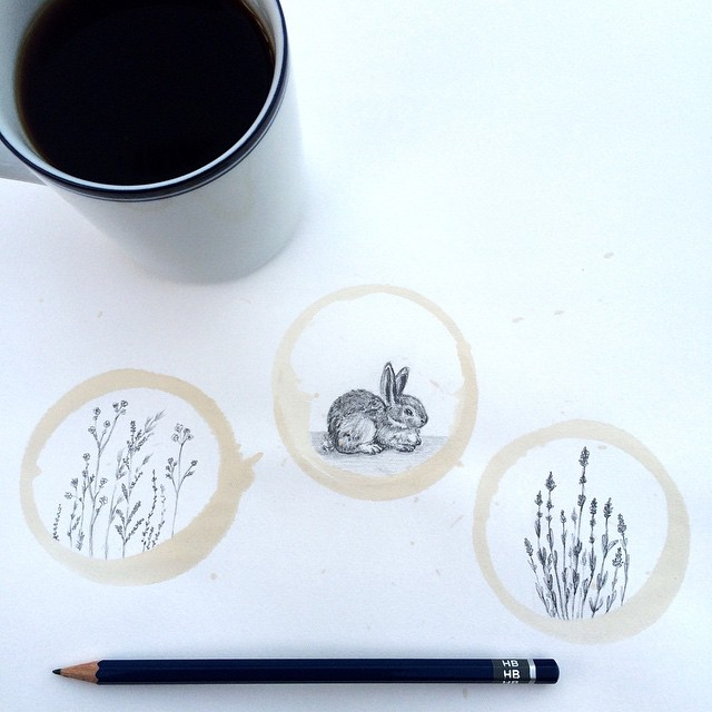 Amazing Coffee Stain Drawings by Carter Asmann 15