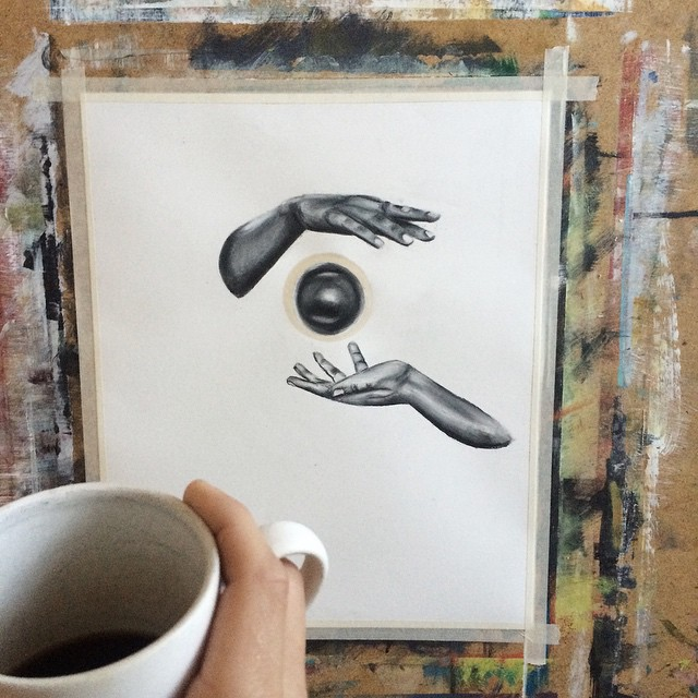 Amazing Coffee Stain Drawings by Carter Asmann 16