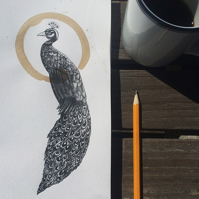 Amazing Coffee Stain Drawings by Carter Asmann 17