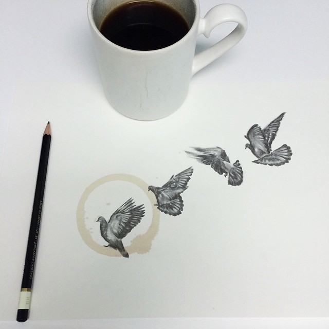 Amazing Coffee Stain Drawings by Carter Asmann 19
