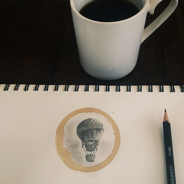 Amazing Coffee Stain Drawings by Carter Asmann 2
