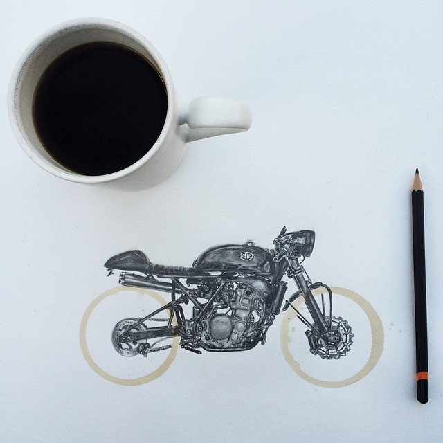 Amazing Coffee Stain Drawings by Carter Asmann 20