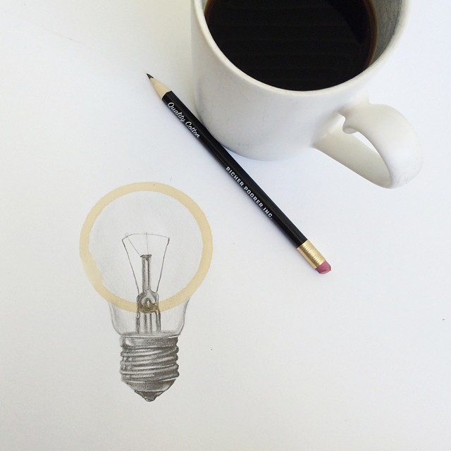Amazing Coffee Stain Drawings by Carter Asmann 3