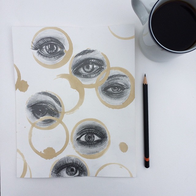 Amazing Coffee Stain Drawings by Carter Asmann 4
