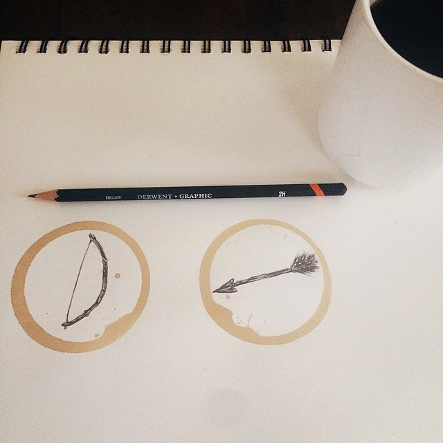 Amazing Coffee Stain Drawings by Carter Asmann 5