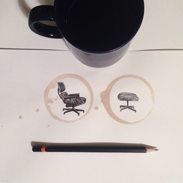 Amazing Coffee Stain Drawings by Carter Asmann 7