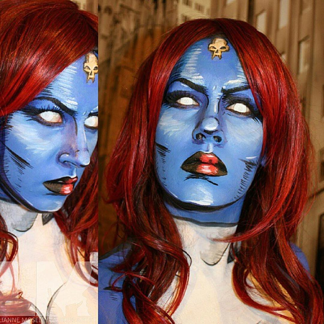 Mystique - not quite JLaw but looks just as pretty.