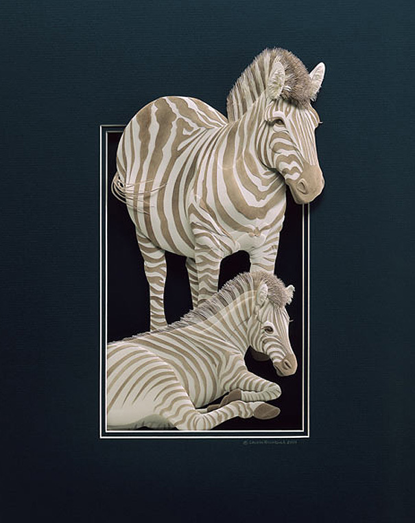 Super Realistic Paper Sculptures Of Animals By Calvin Nicholls 10