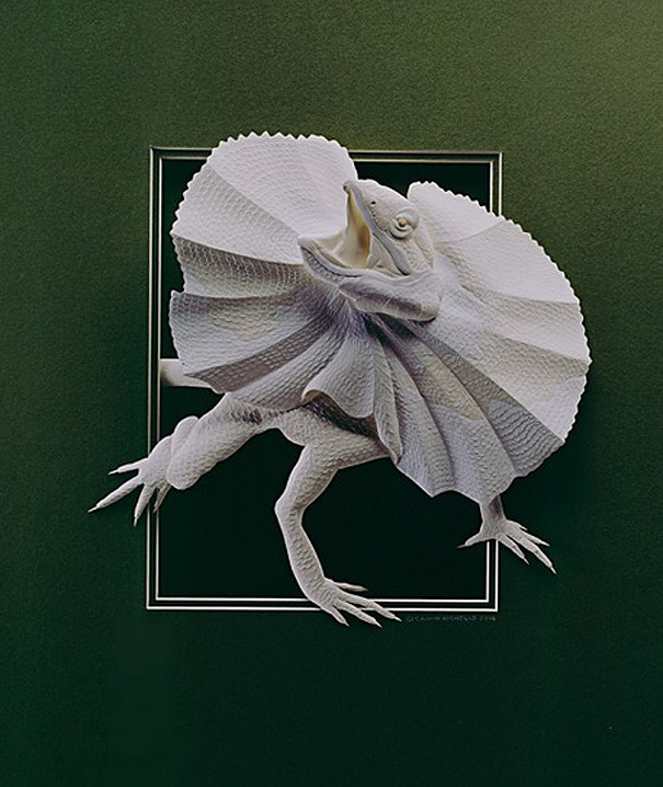 Super Realistic Paper Sculptures Of Animals By Calvin Nicholls 11